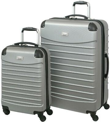 - Geoffrey Beene Luggage Set 2-Pc Hardside Telescopic Handle Fully Lined Interior