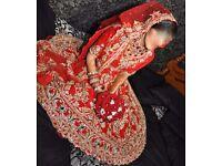 Beautiful red bridal lengha