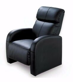 Brand New Black Recliner Chair With Massager Faux Leather Massage