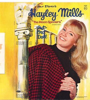 VINTAGE UNCUT 1961 MOONSPINNERS HAYLEY PAPER DOLLS HD Digital REPRODUCTION~LO Pr
