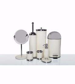 8 piece bathroom set in cream
