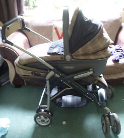 Mamas and Papas Freestyler Travel system and car seat beige burberry