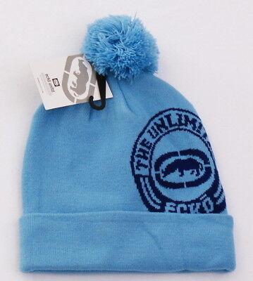 2b5af2fe880f4 Ecko Unltd Blue Knit Cuff Pom Pom Beanie Skull Cap Men s One Size NWT for  sale