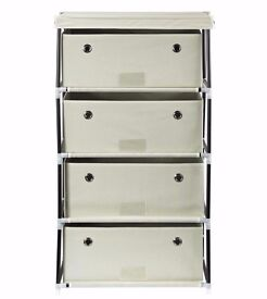 4 drawer fabric cabinet in natural