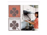 Set of 4 colour changing cooker hood filters