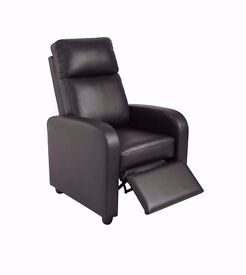 Brand New Faux Leather Pushback Recliner Chair Brown or Black