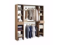 NEW Bedroom Oak Effect Storage Solution Wardrobe