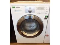SAMSUNG Eco Bubble - White + Chrome, 8KG/5KG WASHER DRYER + 3 Months Guarantee + FREE LOCAL DELIVERY