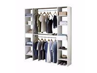 Brand NEW Bedroom White or Oak Storage Solution Wardrobe Storage