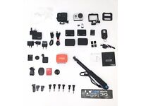 Go Pro 3+ Black (4k) Kit - inc Genuine Spare Battery, 2 Batpacs & Accessories.