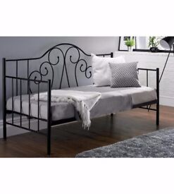 BRAND NEW Innovative Stylish Scroll Design Back Daybed - Missing Siderail, One Vertical Bar