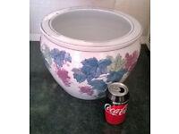 huge ceramic grapes plant pot