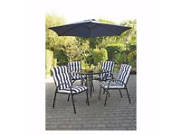 BRAND NEW 4 Seater Barcelona 6 Piece Padded Chair Patio Set   HIGH QUALITY