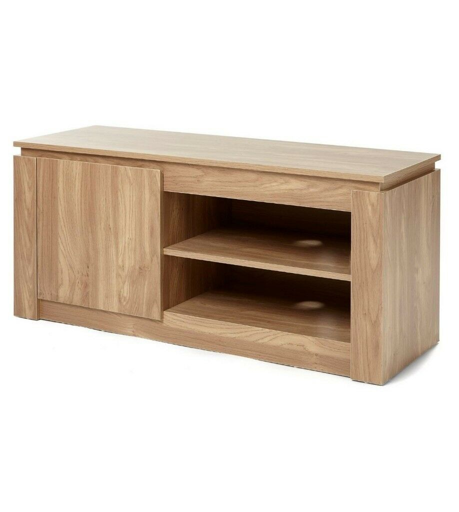 Delicieux Brand New Montana Solid Wood Effect TV DVD Storage Cabinet Unit   Oak