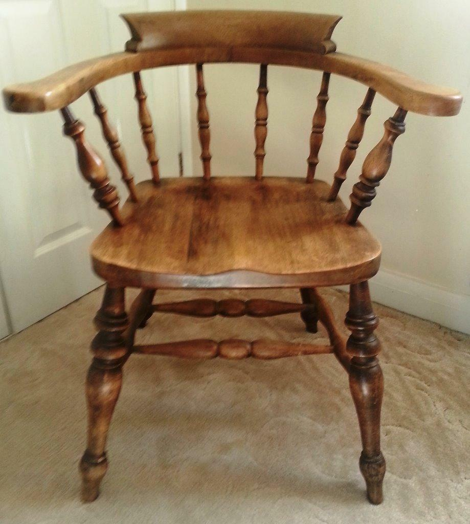 Antique Solid Oak Captains Chair Now Reduced In Price