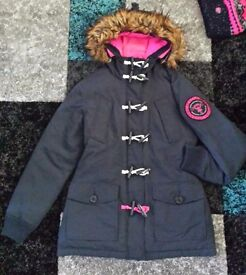 ☆ Genuine Superdry Coat & matching hat Size Small 8 / 10 ☆