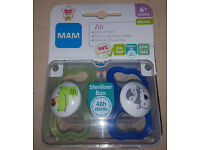 MAM Air Silicone Self Sterilising Soother 6 months + (2 Pack) Dummy Teat Soother
