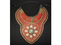 Stunning Beaded Tibetan Tribal Collar / Necklace, Handmade, Unique, Showpiece!