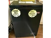 BRAND NEW RUSSELL HOBBS CHEST FREEZER IN BLACK ABSOLUTE BARGAIN ..!!!
