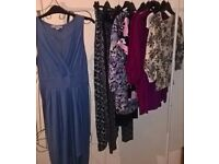 LADIES CLOTHES - 11 PIECES - SIZE 8 - DRESS, TOPS, TROUSERS - HIGH ST BRANDS