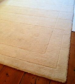 WOOL CREAM RUG FOR SALE