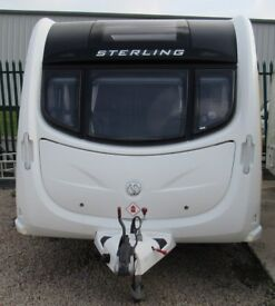 STERLING, ELITE DIAMOND 2012, *AWNING* 2 BERTH CARAVAN*REDUCED WAS.....£11495*