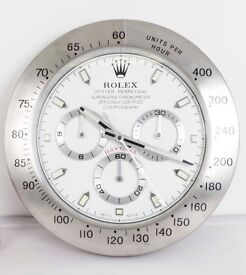 Rolex wall clock, Large size metal clocks, Endorsed by Rolex