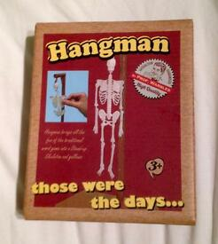 TRADITIONAL HANGMAN TRAVEL GAME FROM PROFESSOR WARBLES. NEW CONDITION, GOOD FAMILY FUN