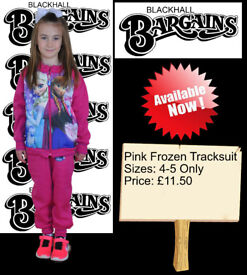 Pink Frozen Tracksuit 4-5 Years