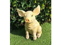 RESIN GARDEN PIG