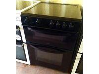BUSH Black 60cm electric cooker