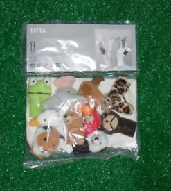 IKEA animal finger puppets. Nursery teaching resources.