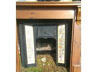 Cast Iron Fireplace & Wooden Surround