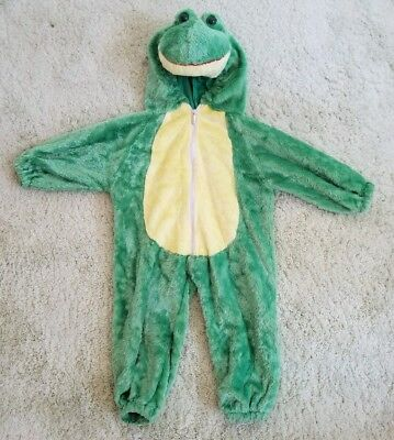 Playful Plush Frog Halloween Costume 12-18 months toddler hooded Zip up 12m - Toddler Frog Halloween Costume