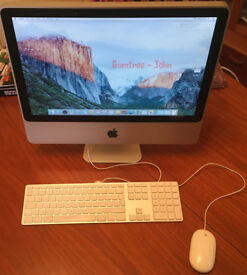 iMac 7.1 (20 inch, mid-2007), Intel Core 2 Duo, 2GB RAM, 250GB HD, OS X El Capitan 10.11.6