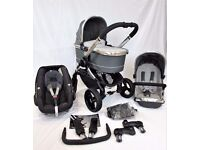 Icandy Peach 3 Truffle **FULL TRAVEL SYSTEM!!* * Includes Maxi Cosi Pebble Car Seat & Accessories