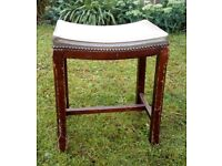Vintage Wood Dressing Table Stool Project