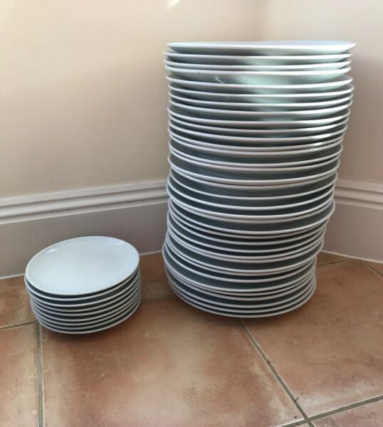 "36 White Dinner Plates 12""  9 x 8"" Olympia Vitrified Porcelain Catering Quality Chip Resistant for sale  Exmouth, Devon"