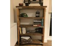 Elegant solid industrial chic bookcase - shelf unit - ANY SIZE