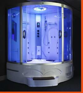 NEW JACUZZI & STEAM SHOWER BATHTUB WHIRLPOOL RAINFALL SHOWER BATH REHEATER SAVE MONEY !