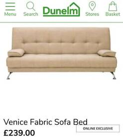 BRAND NEW!/ DUNELM VENICE SOFA BED/ Click Clack sofa/ Free Local Delivery