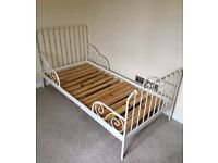 Ikea childs white adjustable bed