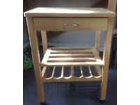 Kitchen Trolley with wine rack & chopping block
