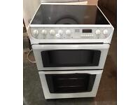 CREDA WHITE 60CM GLASS PLATE ELECTRIC COOKER EXCELLENT CONDITION, 4 MONTH WARRANTY
