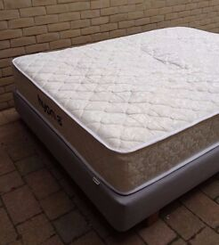 Mattress & Base, Pocket Sprung Mattress with Visco Memory Foam, Double Size, very good condition