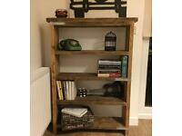 Hand made really solid industrial style bookcase/shelf unit- ANY SIZE