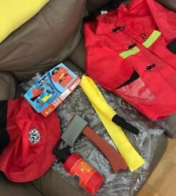 Fireman and pirate costume
