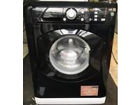 HOTPOINT 8kg black washing machine 1400 spin £140 good condition