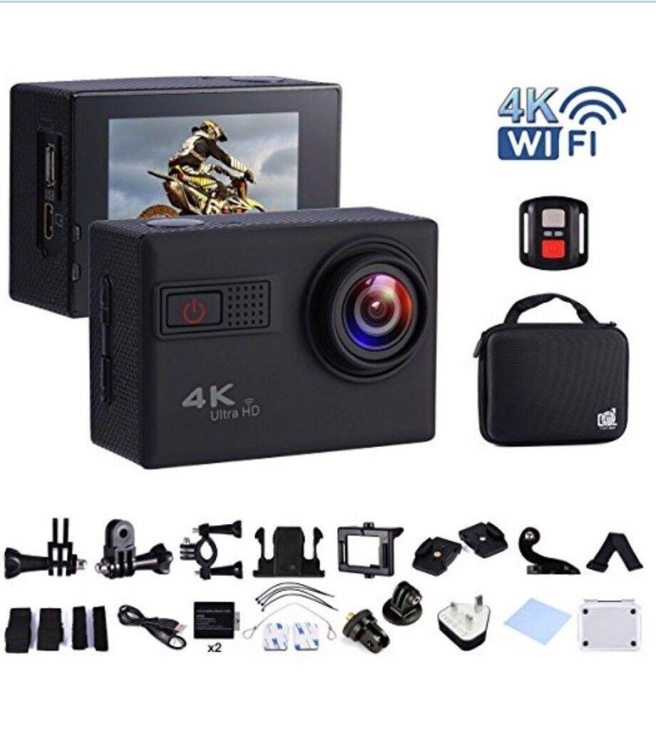 Action Camera 4K 20MP WIFI Waterproof w/25 Accessories