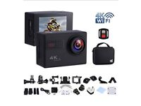 Action Camera 4K 20MP WIFI Waterproof w/25 Accessories RRP: £69.99